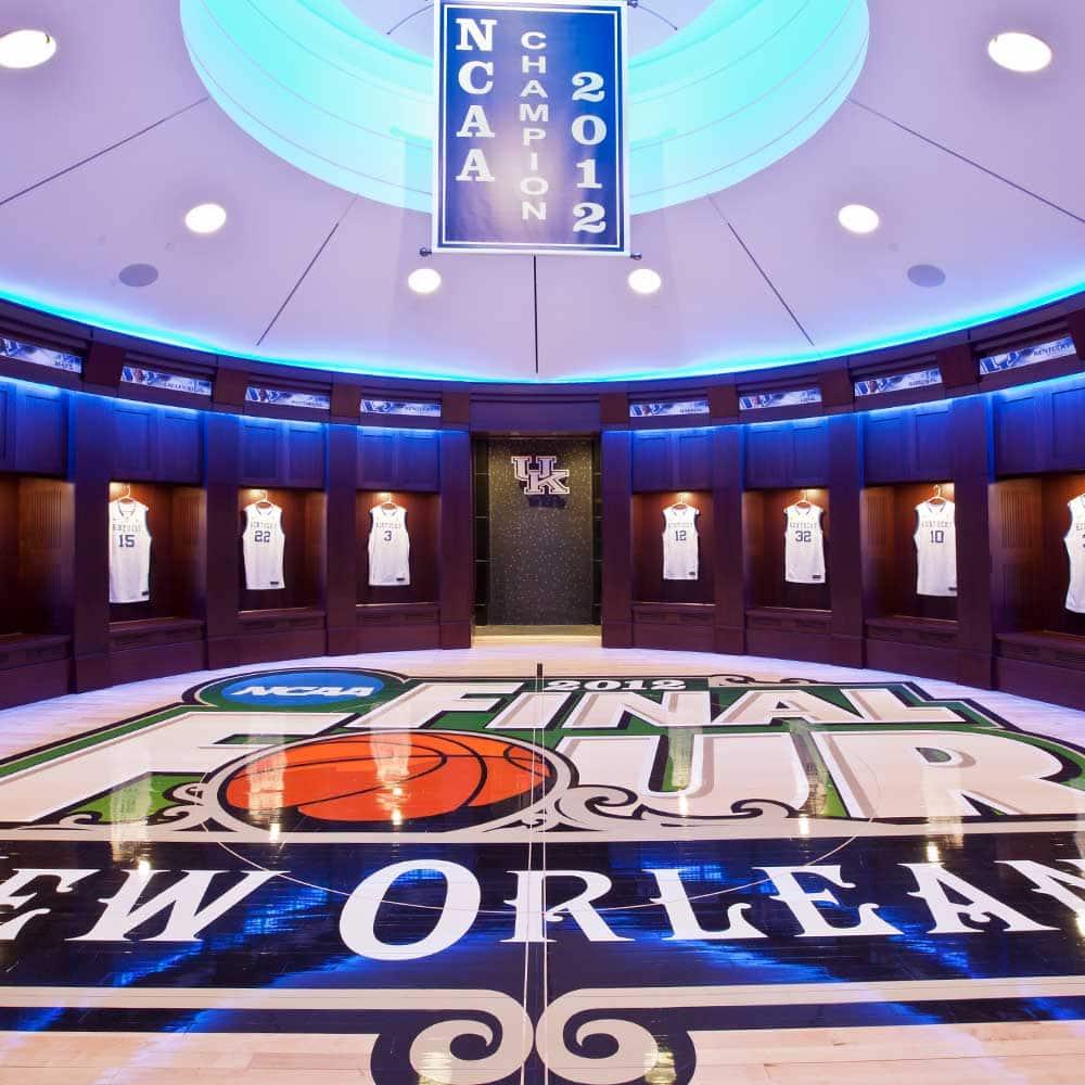 University of Kentucky Men's Basketball Locker Rooms at Rupp Arena